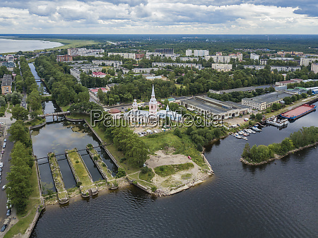 aerial view of annunciation cathedral by