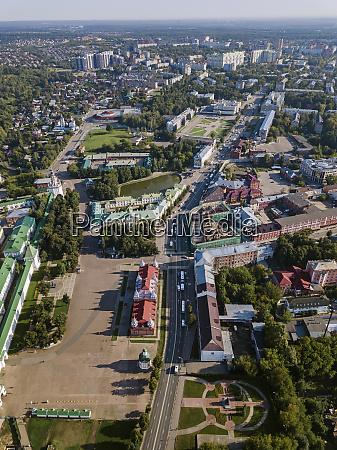 aerial view of sergiev posad town