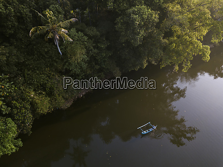 drone shot of nautical vessel on