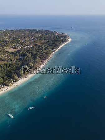 aerial view of gili meno island