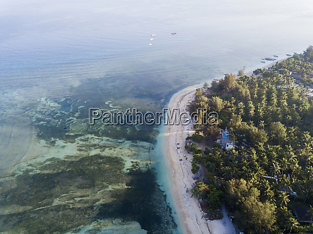 aerial scenic view of gili air