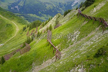 austria vorarlberg mittelberg mountain ridge secured