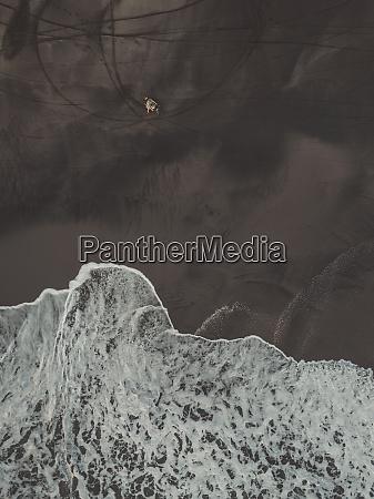 aerial view of motorcycle at kedungu