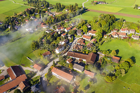 germany bavaria dorfen aerial view of