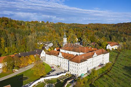 germany bavaria schaftlarn aerial view ofschaftlarn