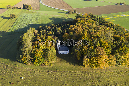 germany bavaria ascholding aerial view of