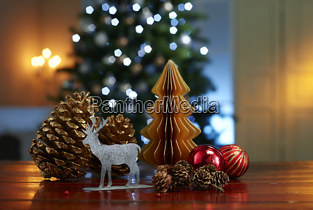 close up of various decorations on
