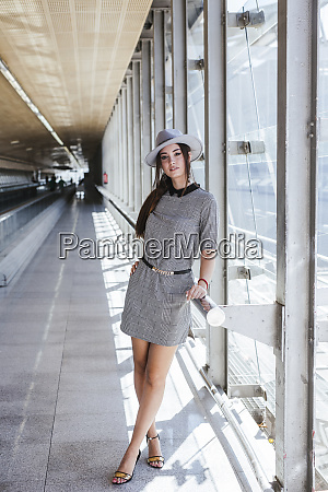 portrait of fashionable young woman at