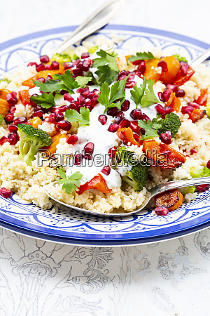 couscous with grilled vegetables carrots peppers