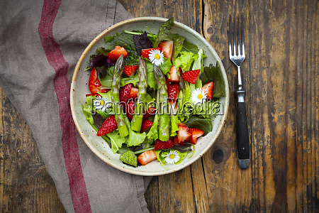 close up of salad with green