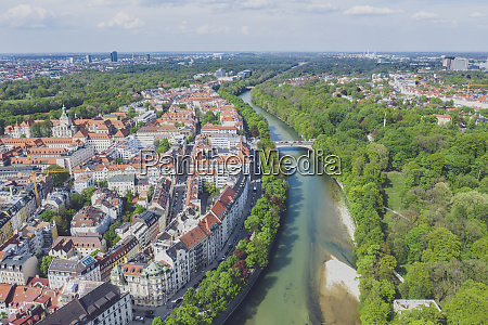 germany bavaria munich aerial view of