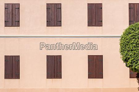 croatia nin rows of shut window