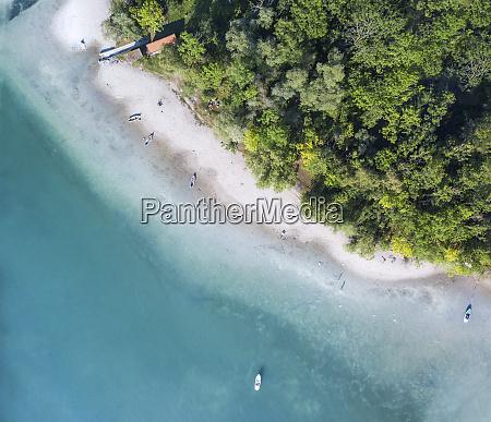 germany bavaria boats lying along island