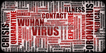 wuhan virus grunge background