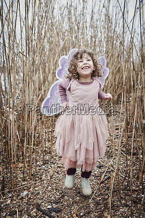 portrait of happy little girl in