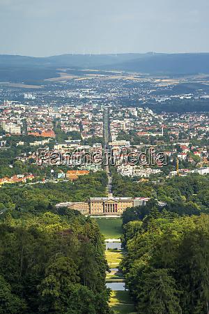 germany hesse kassel aerial view of