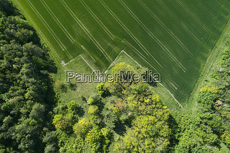 germany bavaria aerial view of edge