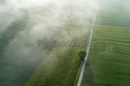 germany bavaria aerial view of morning