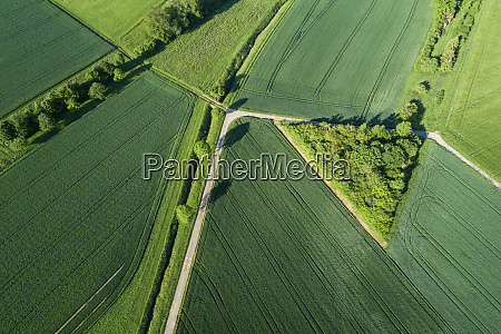 germany bavaria aerial view of country