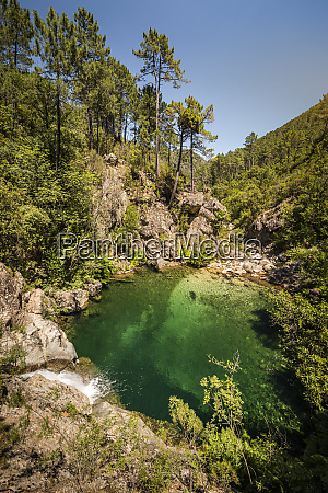 waterfall and pool ruisseau de polischellu