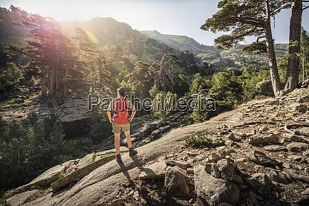 female hiker during hike albertacce haute