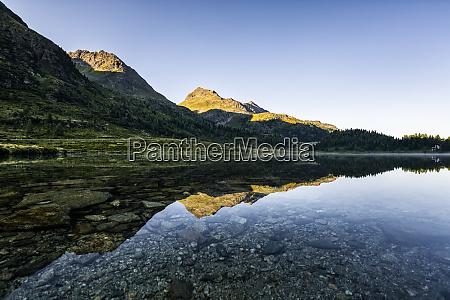austria east tyrol shiny lake reflecting
