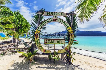 vanuatu mystery island south pacific welcome