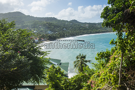 aerial view of sauteurs bay at