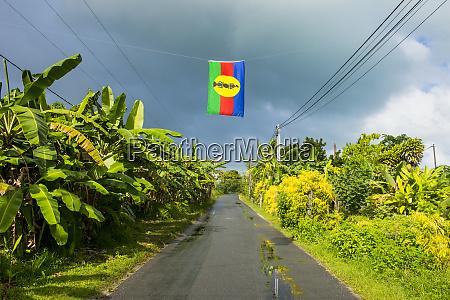 karnak movement flag over road by