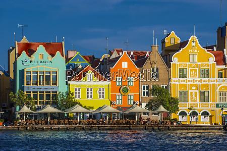 houses by sint annabaai against blue