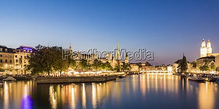 switzerland canton of zurich zurich river