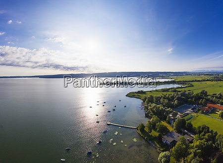 scenic view of ammersee lake against
