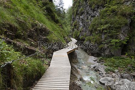 austria tyrol erpfendorf boardwalk stretching along