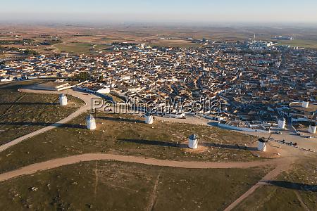 spain province ofciudadreal campodecriptana aerial view