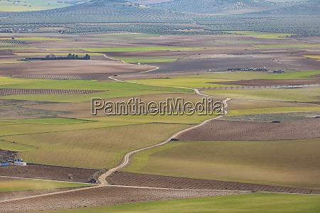 spain aerial view of castilla la