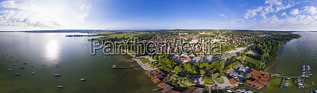 panoramic view of lake ammersee and