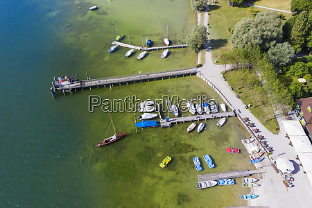 aerial view of jetty at utting