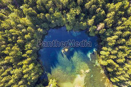 aerial view of badersee lake at