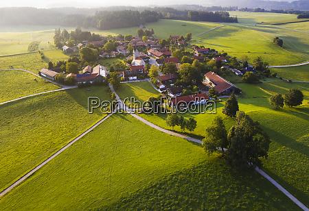 aerial view of landscape at peretshofen