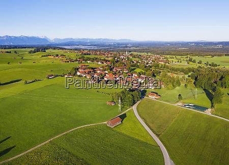 aerial view of landscape at koenigsdorf