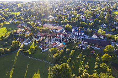 germany upper bavaria icking aerial view