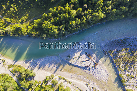 germany bavaria aerial view of isar