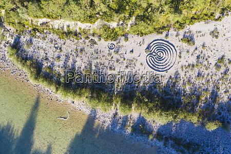germany bavaria lenggries aerial view of