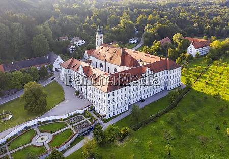 germany bavaria isartal aerial view ofschftlarn