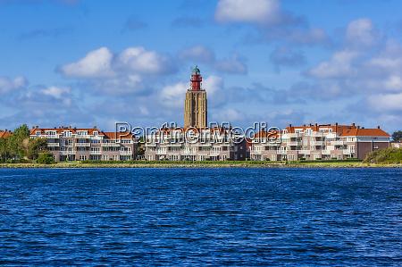 netherlands zeeland westkapelle cityscape with lighthouse