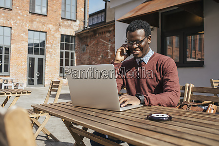 young man using smartphone and