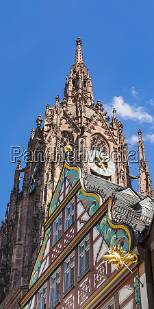 low angle view of frankfurt cathedral