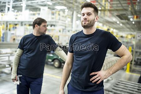 two confident colleagues having a break