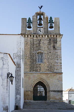 exterior of cathedral at faro portugal