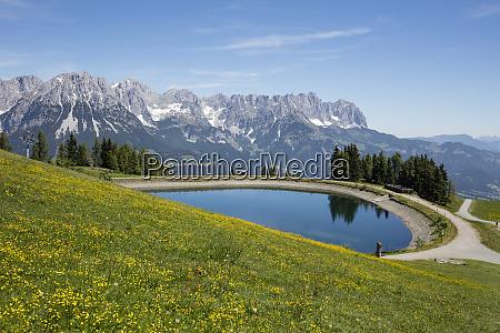 scenic view of hartkaiser lake against